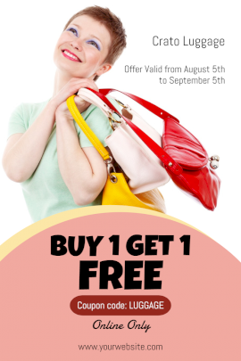 Online Editable Buy One Get One Free Pinterest Graphic