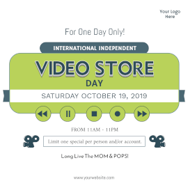 International Independent Video Store Day- Instagram Post