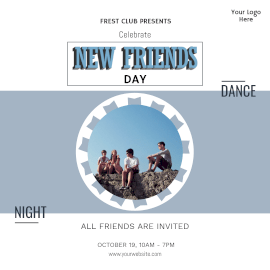 New Friends Day-  Instagram Post