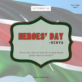 Heroes' Day - Kenya-  Instagram Post