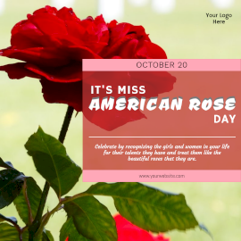 Miss American Rose Day-  Instagram Post