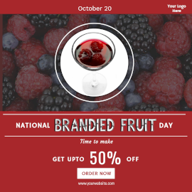 National Brandied Fruit Day- Instagram Post