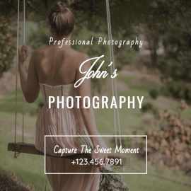 Online Editable Professional Photography Social Media Post