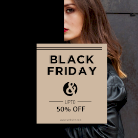 Online Editable Black Friday for Ladies Fashion Facebook 3D Post