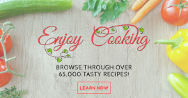 Online Editable Learn Tasty Cooking Recipes Facebook Ad Post
