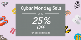 Online Editable Cyber Monday Sale Twitter Post