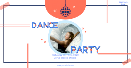 Online Editable Dance Party Promotion Poster Facebook Ad