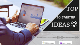 Online Editable Top 10 Startup Ideas Podcast Audiogram