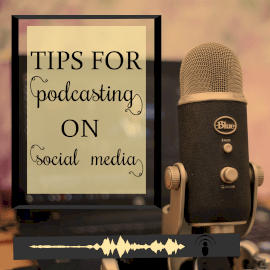 Online Editable Social Media Tips from Microphone Podcast Audiogram