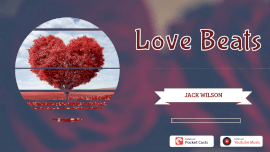 Online Editable Red Circular Love Beats Music Audiogram