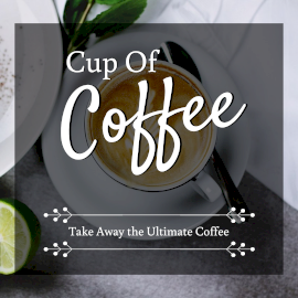 Online Editable Cup of Coffee Quotes Facebook 3D Post