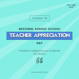National Sunday School Teacher Appreciation Day-  Instagram Post