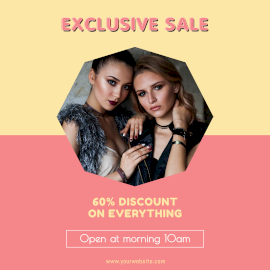 Fashion Discount Sale - Instagram Post