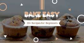 Online Editable Free Baking Recipies Facebook Ad Post