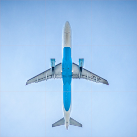 Online Editable Airplane Flying 9 Squares Instagram Photo Grid