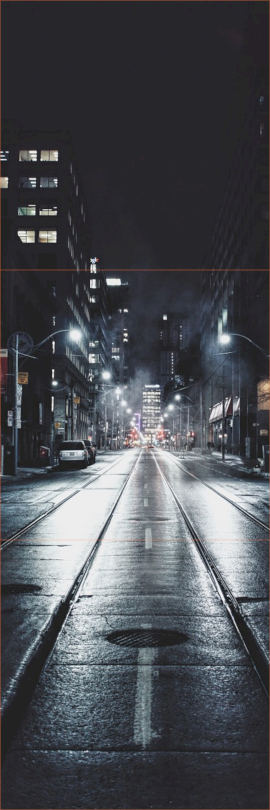 Online Editable City Street Night 3 Square Instagram Photo Grid