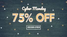 Online Editable Cyber Monday Discount Coupon Code Facebook App Ad