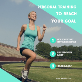 Online Editable Personal Fitness Training Social Media Post
