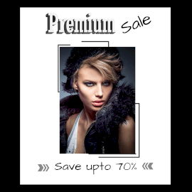 Online Editable Classic Premium Sale Offer Animated Design