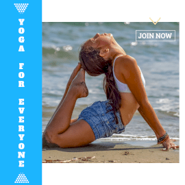 Online Editable Blue Yoga for Everyone Animated Design