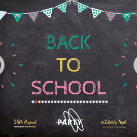 Online Editable Back to School Party Animated Design