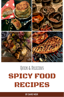 Online Editable Spicy Food Recipes Pinterest graphic
