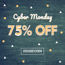 Online Editable Abstract Cyber Monday Deals Facebook 3D Post