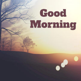 Online Editable Good Morning Wishes Scenery Facebook 3D Post