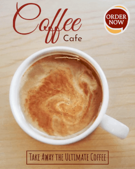 Online Editable Unlimited Coffee Cafe Cinemagraph