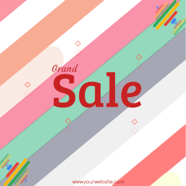 Online Editable Colorful Sale Offers Animated Design