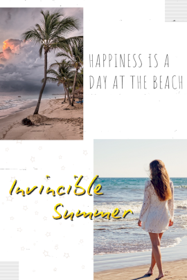 Online Editable Invincible Summer Vacation Pinterest Graphic
