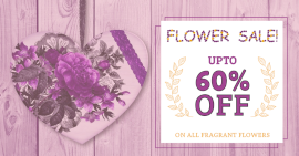 Online Editable Flower Sale Promotion Facebook Ad Post