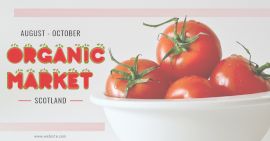 Online Editable Red and Green Fresh Fruit Typography Facebook Ad