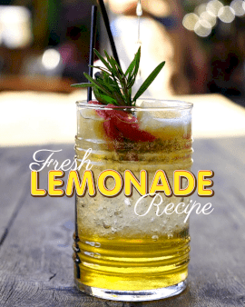 Online Editable Fresh Lemonade Recipe with Juice Movement Cinemagraph