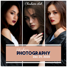 Online Editable Fashion Photography 3 Photo Grid Collage