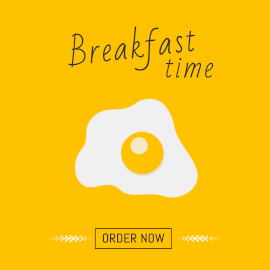 Online Editable Yellow Breakfast Time Animated Design