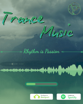 Online Editable Green Trance Rhythm of Music Audiogram
