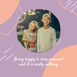 Online Editable Purple Siblings Quote Animated Design