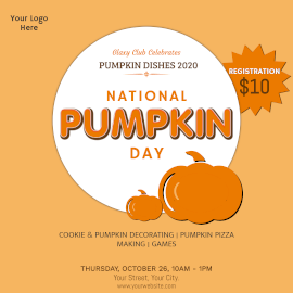 Online Editable National Pumpkin Day Food Dishes Instagram Post
