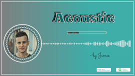 Online Editable Blue Acoustic Music Audiogram