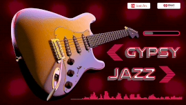 Online Editable Pink Jazz Music Visualizer Music Audiogram