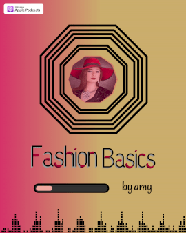 Online Editable Pink and Yellow Fashion Basics Podcast Audiogram