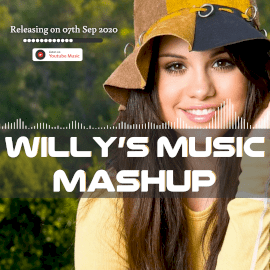 Online Editable Willy's Music Mashup Music Audiogram