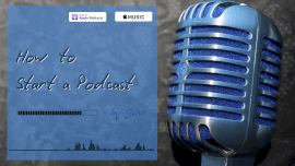 Online Editable Blue How to Podcast Tips Podcast Audiogram