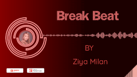 Online Editable Dark Red BreakBeat Music Audiogram