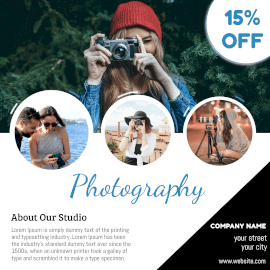 Online Editable Photography Advertisement Animated Design