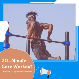 Online Editable Blue Core Workout Animated Design