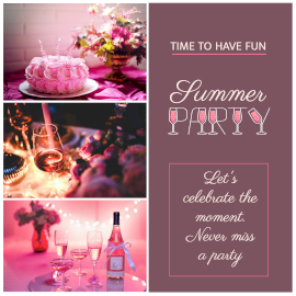 Summer Party - Instagram post