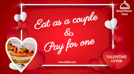 Online editable Valentines day special offers Facebook App Ad