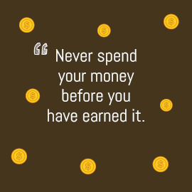 Online Editable Minimalist Saving Money Quotes Inspirational Facebook 3D Post